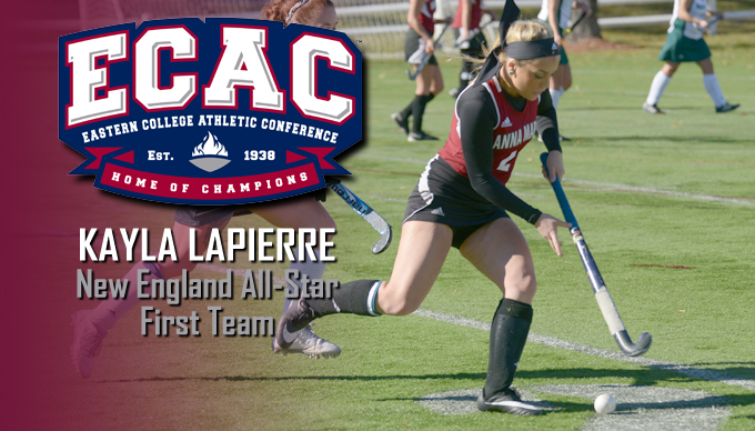 Lapierre Earns ECAC New England All-Star First Team Honors