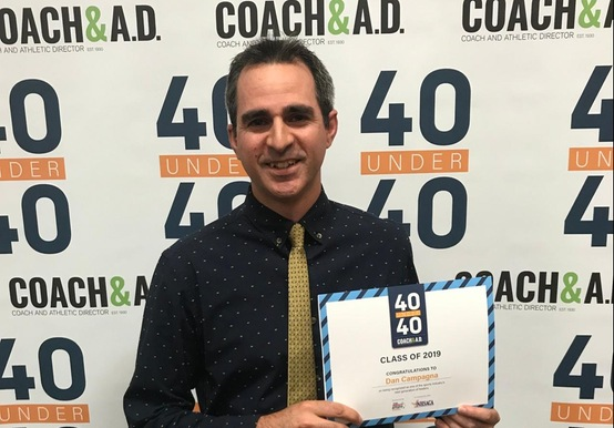 CAMPAGNA HONORED AS 2019 SPORTS 40 UNDER 40 RECIPIENT AT NHSACA CONVENTION