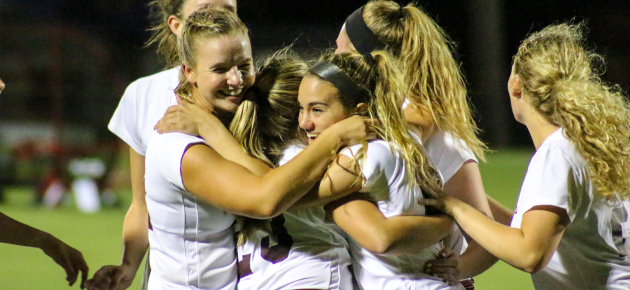 Late Offensive Push Leads Women's Soccer to 4-2 Win Over Clark