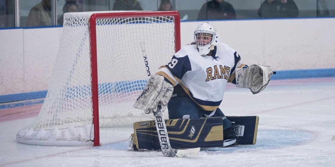 Women's Hockey Shutouts UNE, 2-0