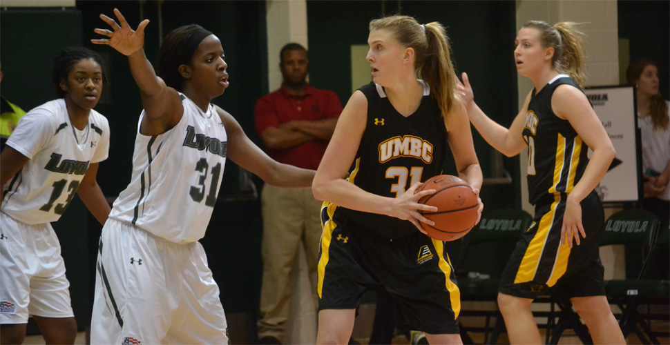 Career-Day for McCarley Not Enough for UMBC Women's Basketball at Vermont, 63-59; O'Donnell Matches Program Block Record