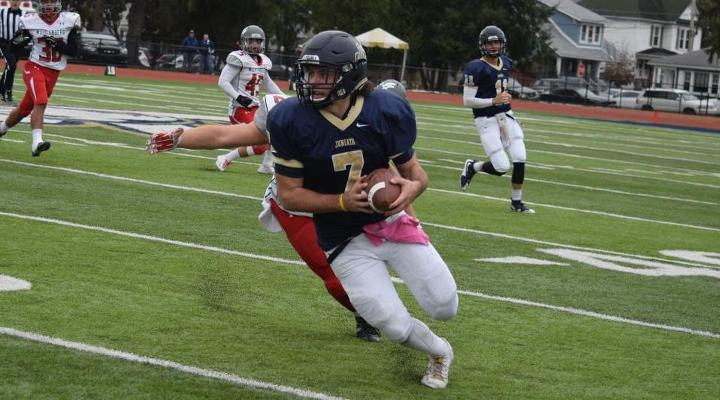 Kirby Breault hauled in 10 passes for 117 yards and two scores against the Mules