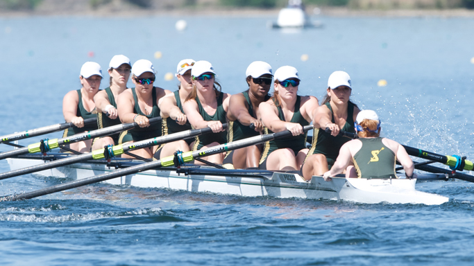 ROWING WINS ITS HEAT, ADVANCES TO SATURDAY'S DAD VAIL REGATTA SEMIFINAL