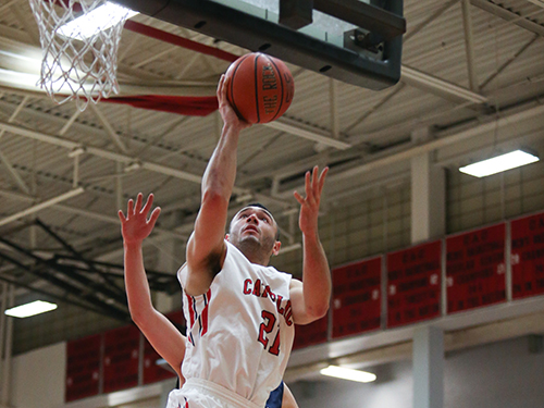 Catholic Men's Basketball Routs Moravian, 96-59