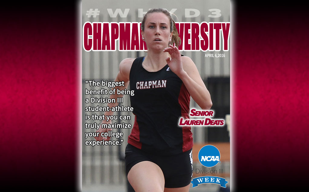 #D3week featured student-athlete: Lauren Deats, track & field