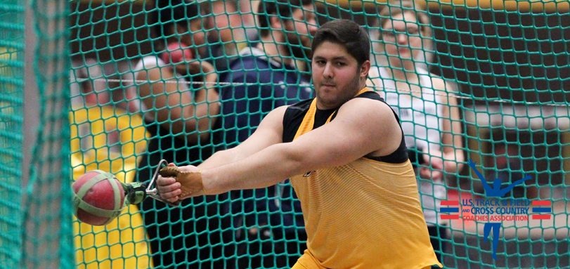 Sophomore All-OAC thrower Ted Achladis (Photo courtesy of John Reid)