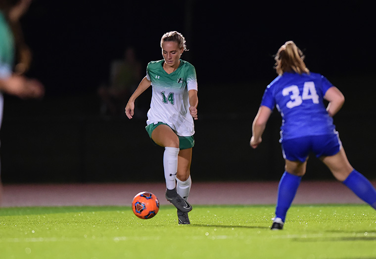 Freshman Rori Englert is shown in action in early September in a game against F&M.