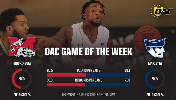 Men's Basketball hosts Marietta for OAC Game of the Week