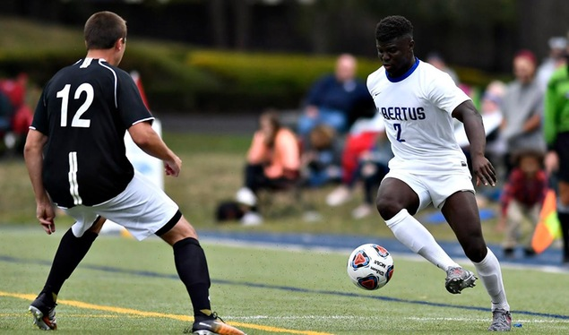 Oumorou Nets Four Goals to Lead Men's Soccer Over Anna Maria