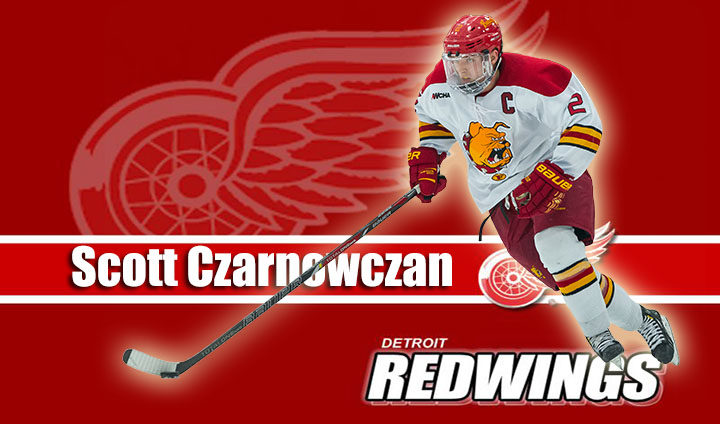 Recent Ferris State Hockey Captain Scott Czarnowczan Invited To Detroit Red Wings' Development Camp