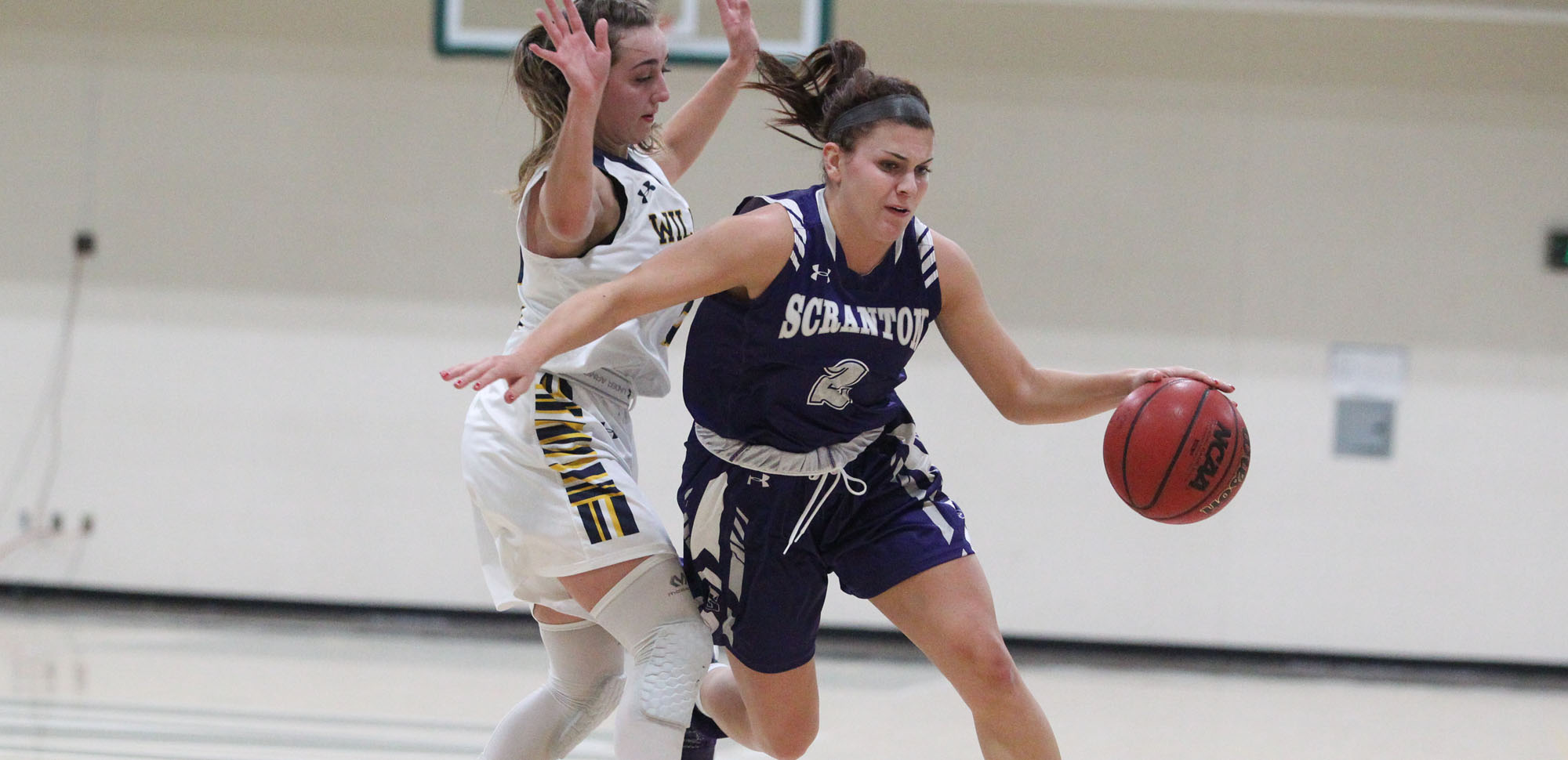 Junior guard Emily Sheehan scored five straight points early in the fourth quarter to give Scranton a lead they would not give up in a 63-58 win over DeSales on Monday night.