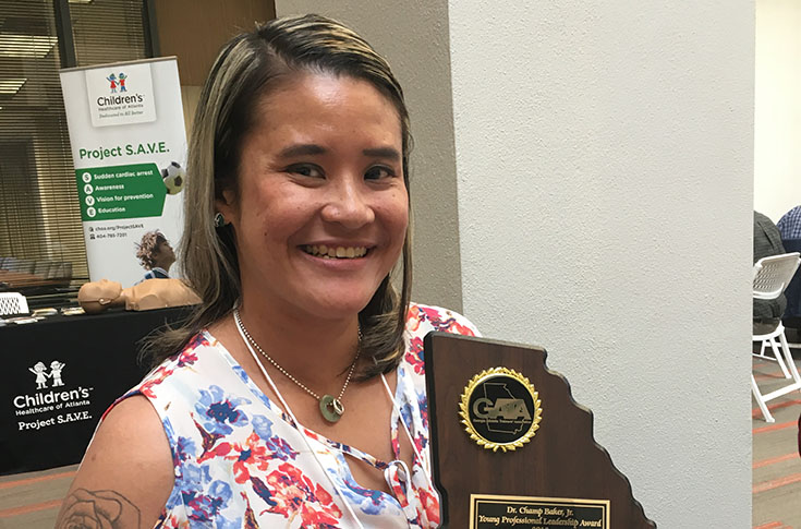 Janet Lin Craft receives Georgia Athletic Trainer's Association award