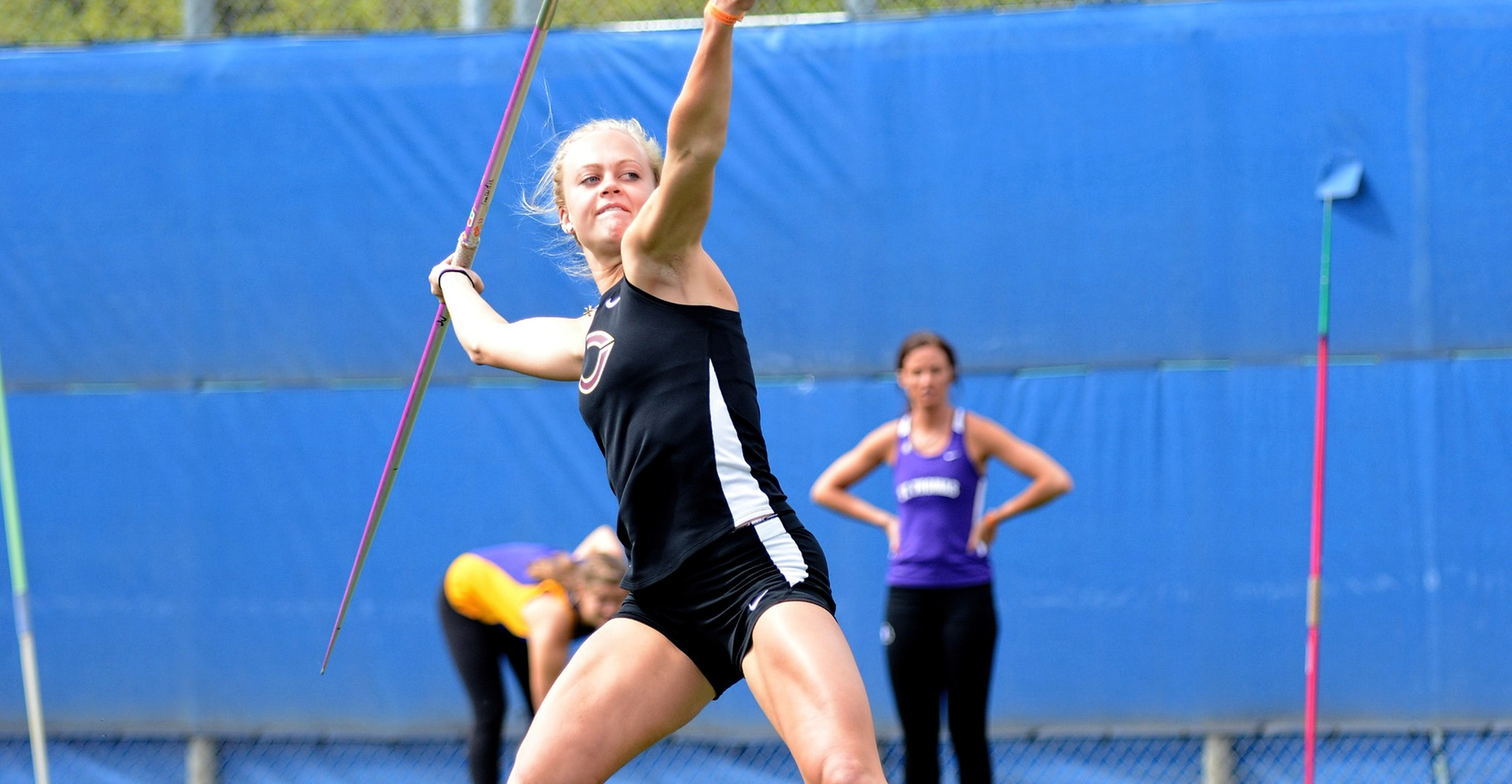 Senior Mikayla Forness kicked off the outdoor season by winning the javelin competition at the St. Benedict Outdoor Invitational.