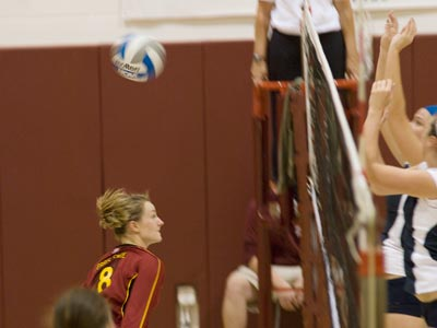 Ashley Huntey and Ferris State didn't have the ball bounce their way in a 3-0 setback to Saginaw Valley State.