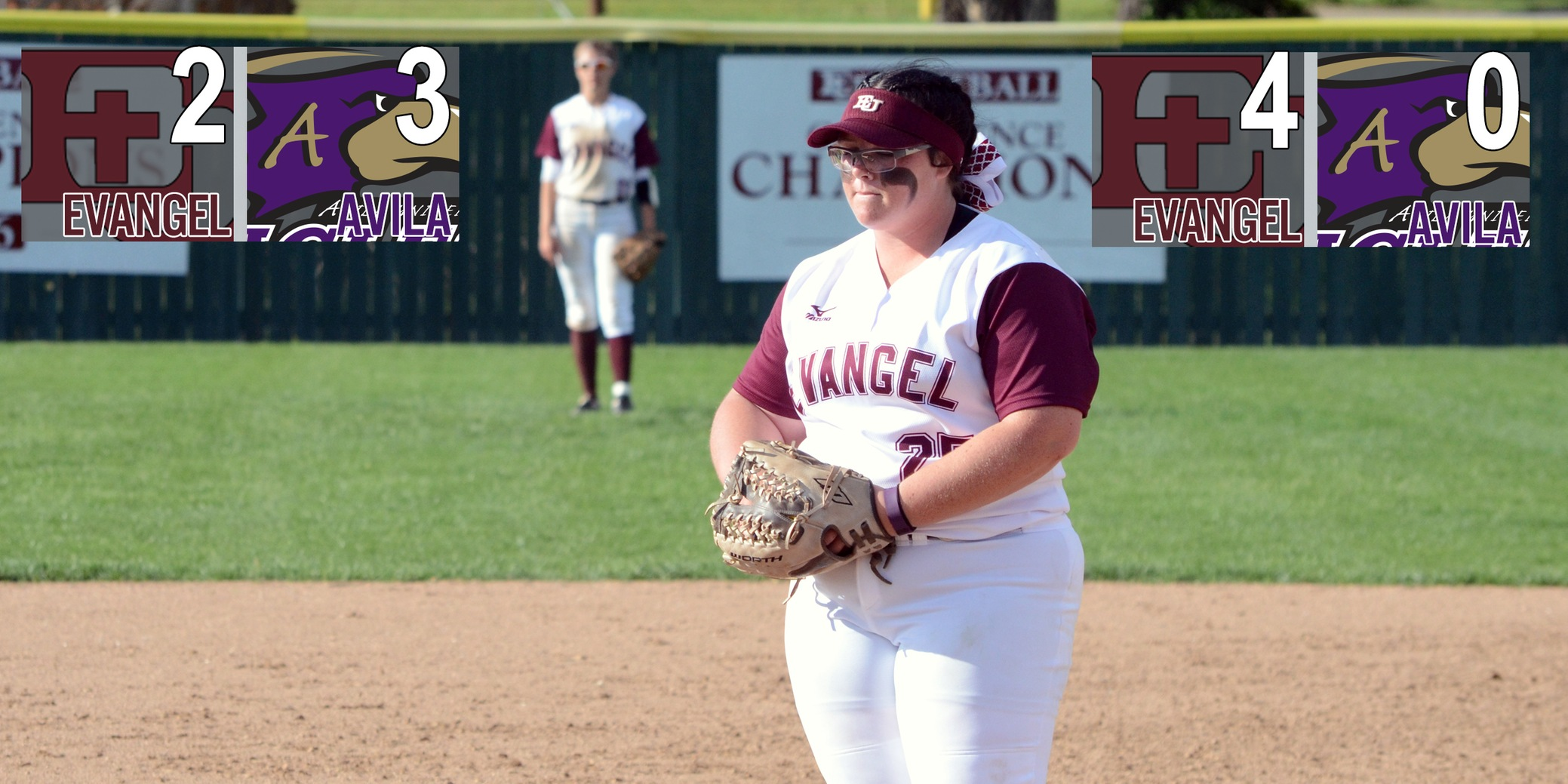 Softball Splits at Avila to Keep South Division Lead