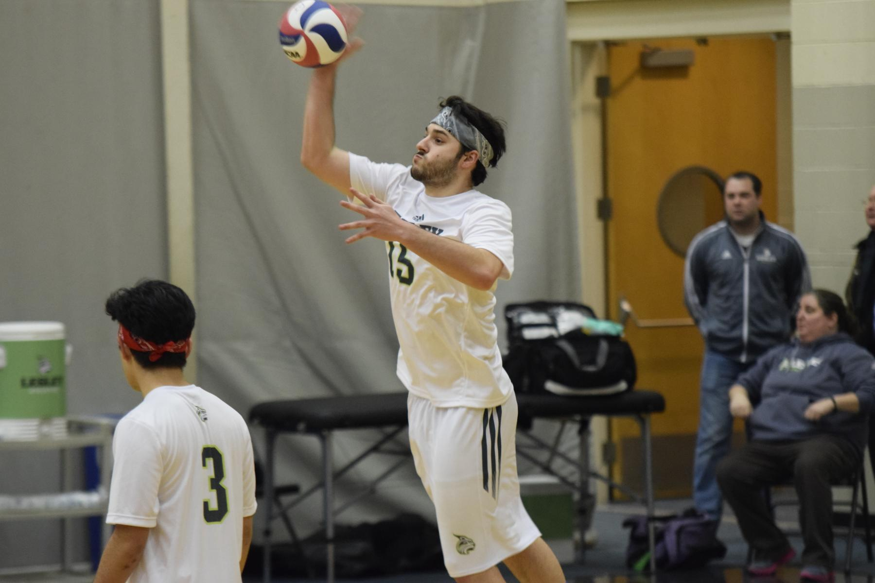 Men's Volleyball Competes at Day One of JWU Invite