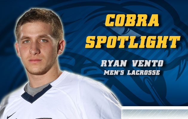 Cobra Spotlight- Ryan Vento, Men's Lacrosse