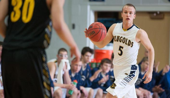 Hjelter Scores Career-High as Blugolds Beat Falcons