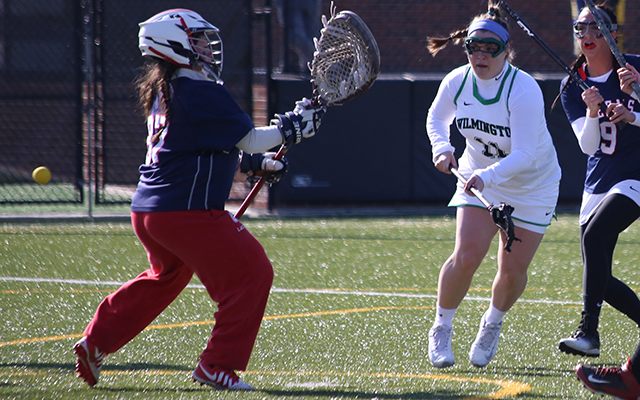 Wilmington Women's Lacrosse Uses Late Game Comeback to Down Dominican, 10-9, for First Win of 2016