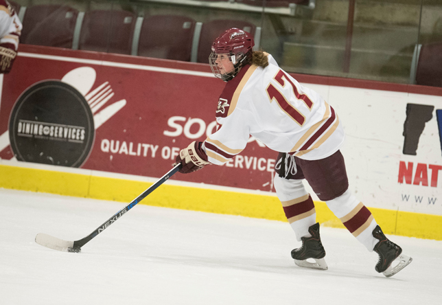 Women's Hockey: Labbe, King march Norwich past Amherst 5-0