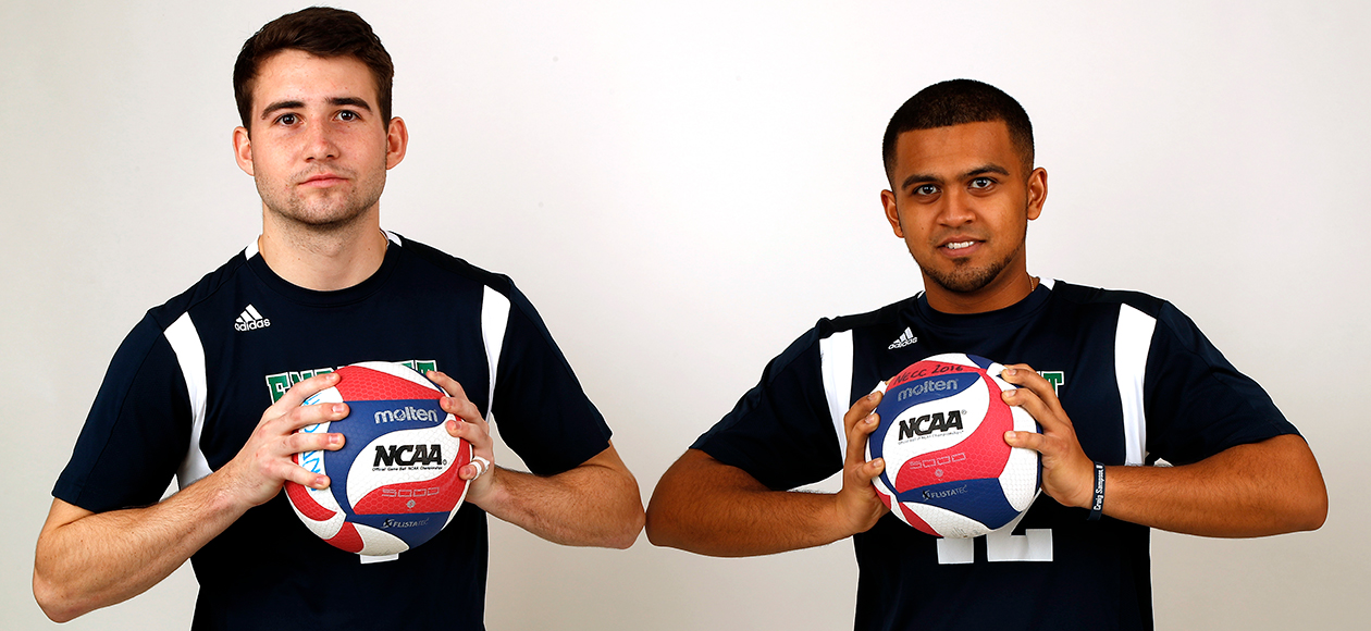 Troy Riorden and Amar Patel pose for a photo.