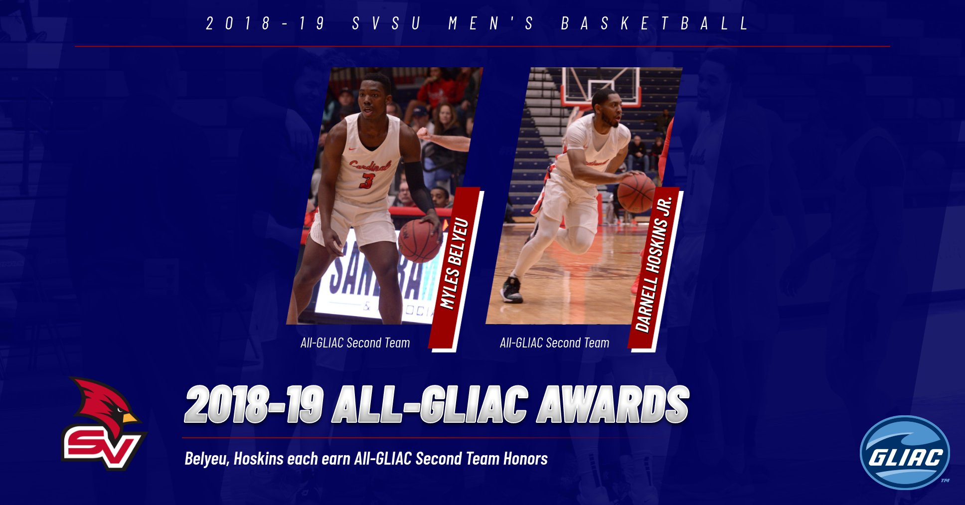Belyeu, Hoskins earn 2018-19 All-GLIAC honors for SVSU