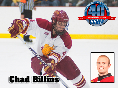 CCHA Defenseman Of The Week Honors Awarded To Chad Billins