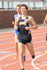 Brandan McGee qualifed for the IC4A meet in the 3000m steeplechase