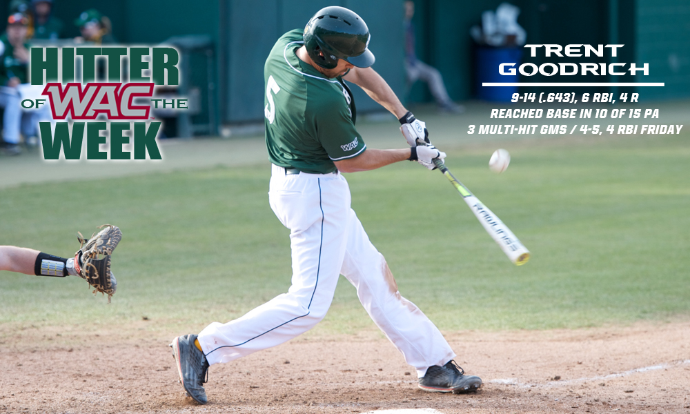 TRENT GOODRICH NAMED WAC HITTER OF THE WEEK