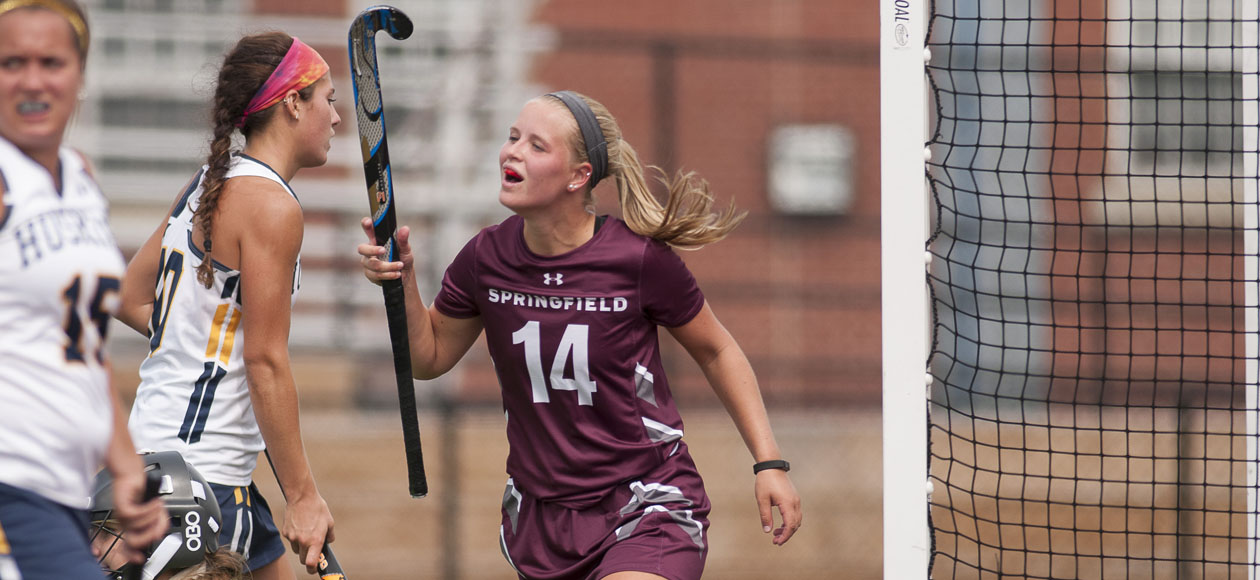 Conley's First-Career Hat Trick Leads Field Hockey Past Husson, 5-3