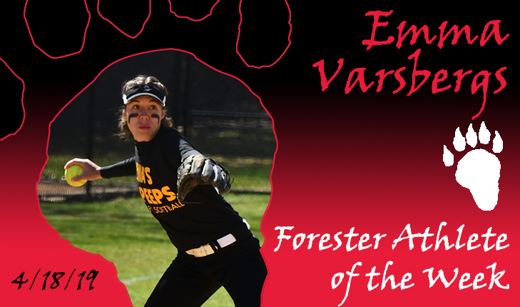 Emma Varsbergs Named Forester Athlete of the Week