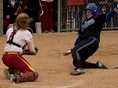 FSU held off the Lakers by throwing out the potential tying run at the plate in game one (Photo by Eric Carlson)