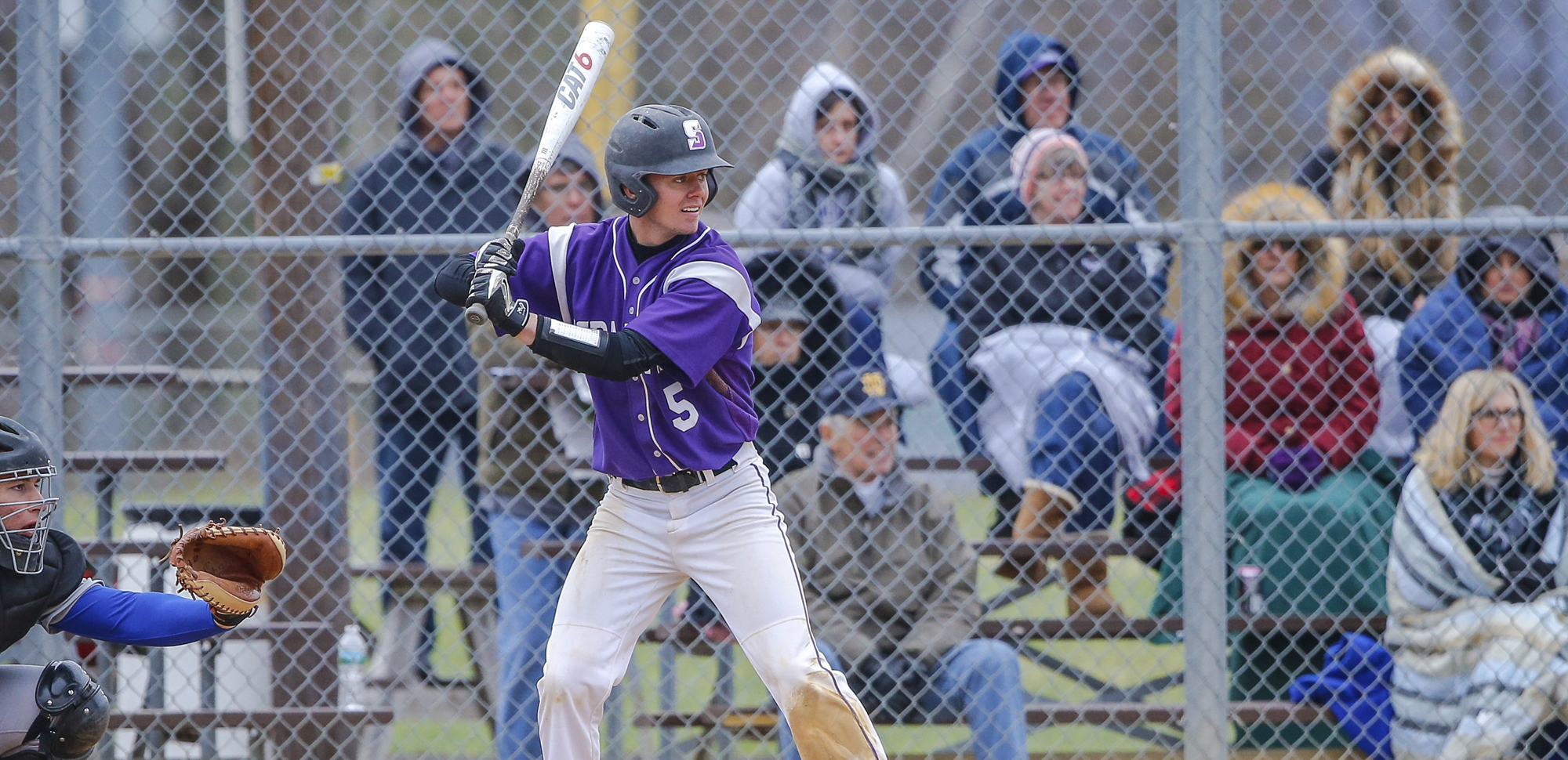 Junior Brad Schneider homered in the first game on Saturday at Catholic.