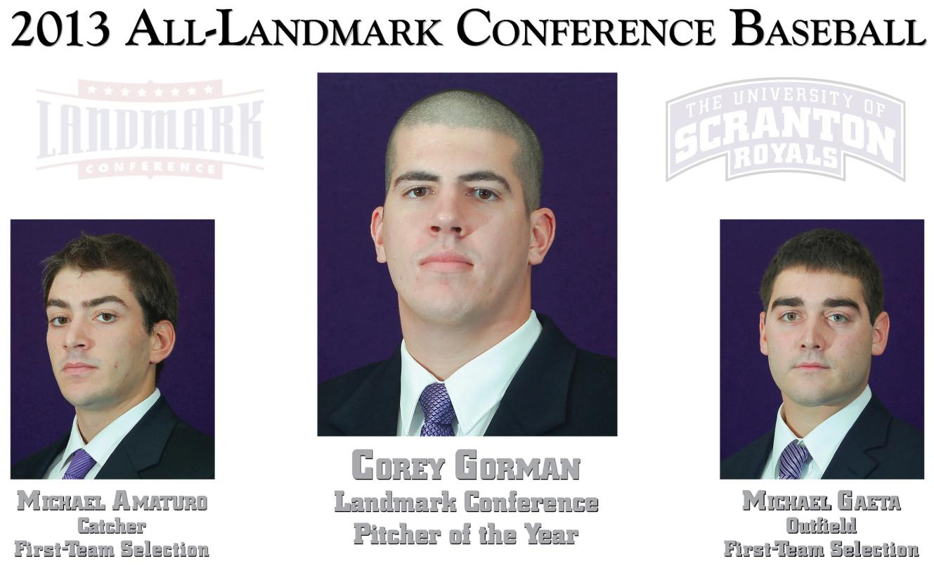 Gorman Named Landmark Conference Pitcher Of The Year; Amaturo, Gaeta Earn First-Team Honors