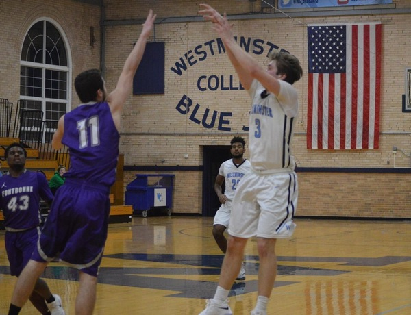 Caywood's Hot Shooting Puts Westminster Men's Basketball Atop Fontbonne