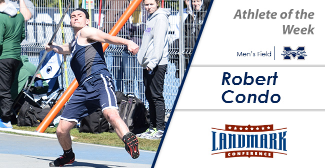 Robert Condo '18 selected as Landmark Conference Men's Field Athlete of the Week