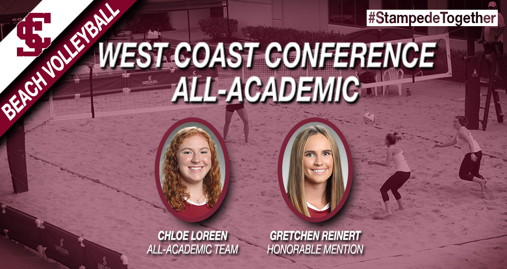 Loreen, Reinert Recognized with WCC Beach Volleyball All-Academic Honors