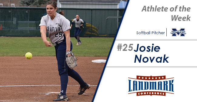 Josie Novak '18 named Landmark Conference Softball Pitcher of the Week.