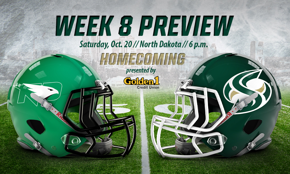 FOOTBALL WELCOMES NORTH DAKOTA FOR HOMECOMING ON SATURDAY