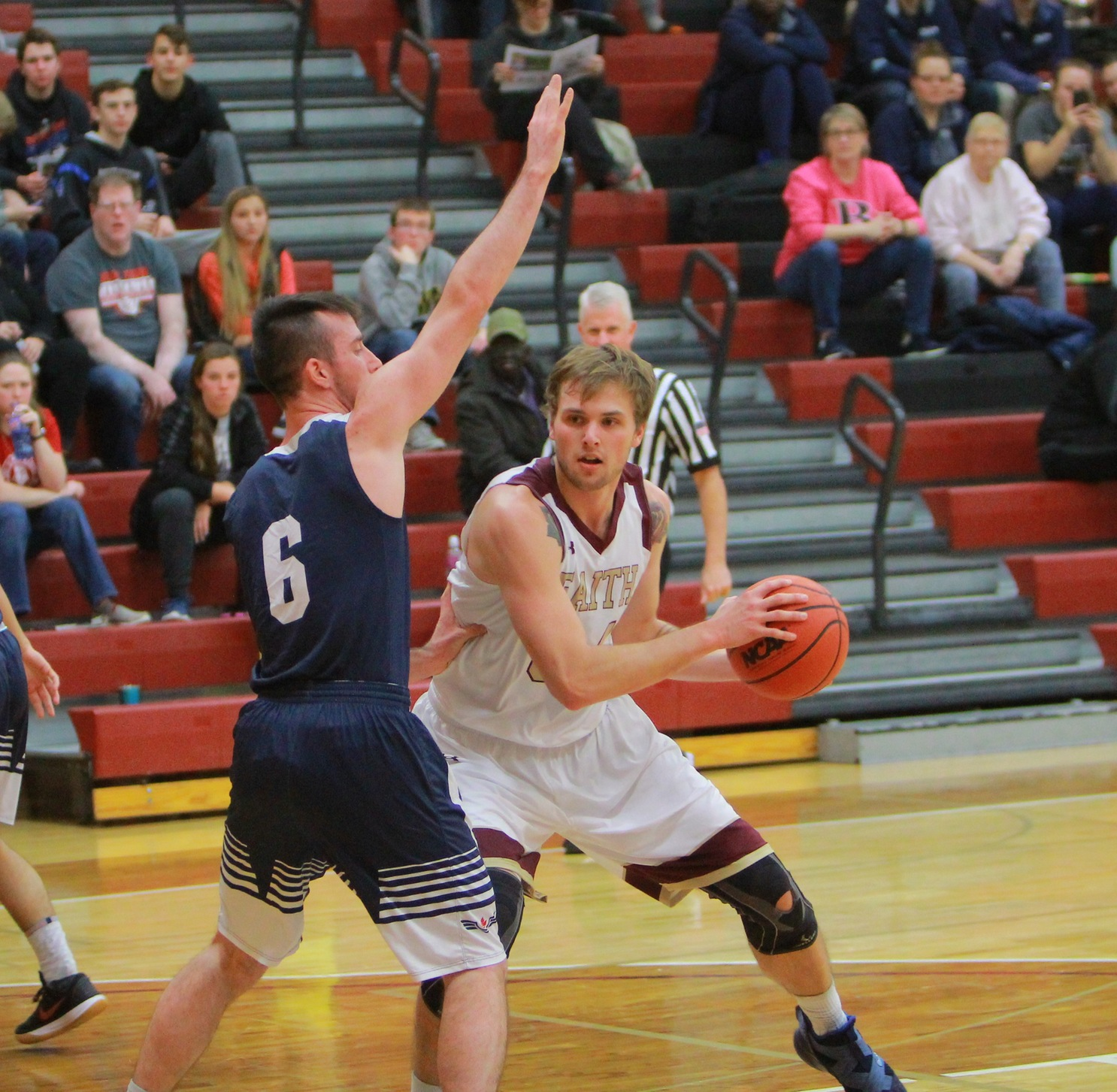 Tanner Van Beek led the Faith Eagles with 13 points in a loss to Randall University