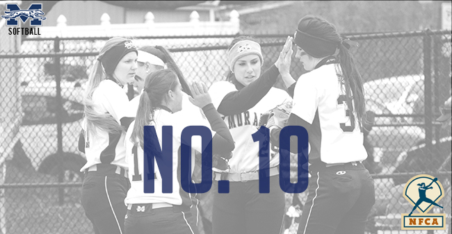 Moravian softball ranked No. 10 in the latest National Fastpitch Coaches Association Division III Top 25.