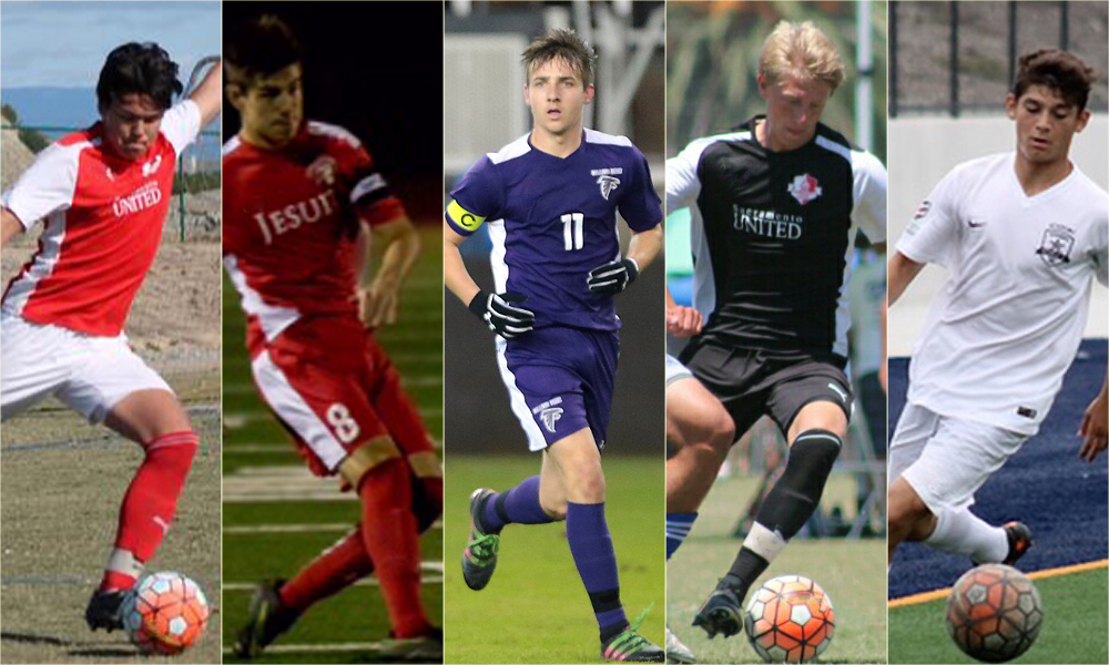 MEN'S SOCCER SIGNS FIVE PLAYERS TO NATIONAL LETTERS OF INTENT