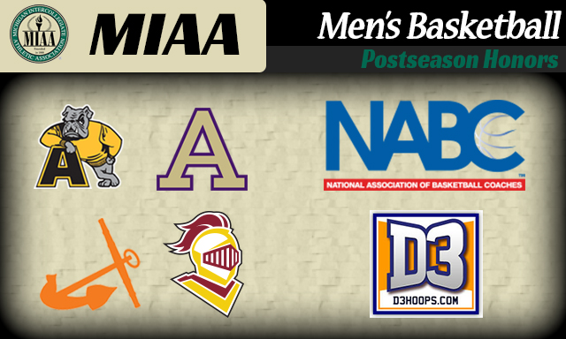 D3Hoops.com and NABC honors Four MIAA Men's Basketball By Being Named All-Great Lakes Region and All-District