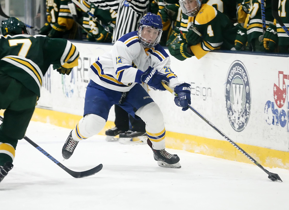 Men's Ice Hockey Bested by Saint Anselm