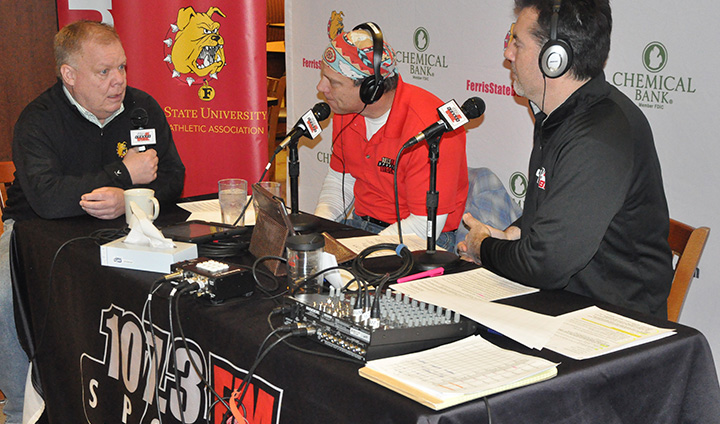 "Ferris State Athletics Welcomes WBBL's ""Doctor & Bentley"" Morning Show To Campus"
