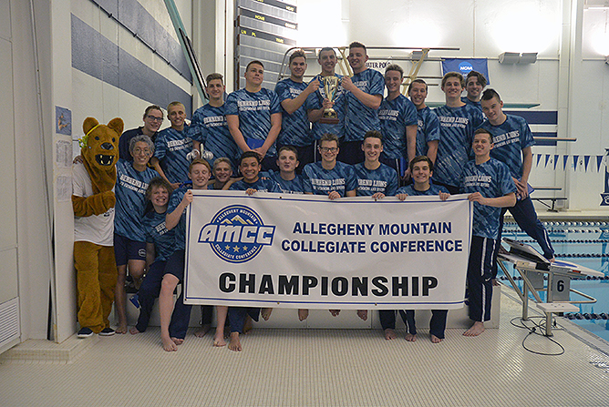 Men's Swimming Captures 13th Straight AMCC Championship