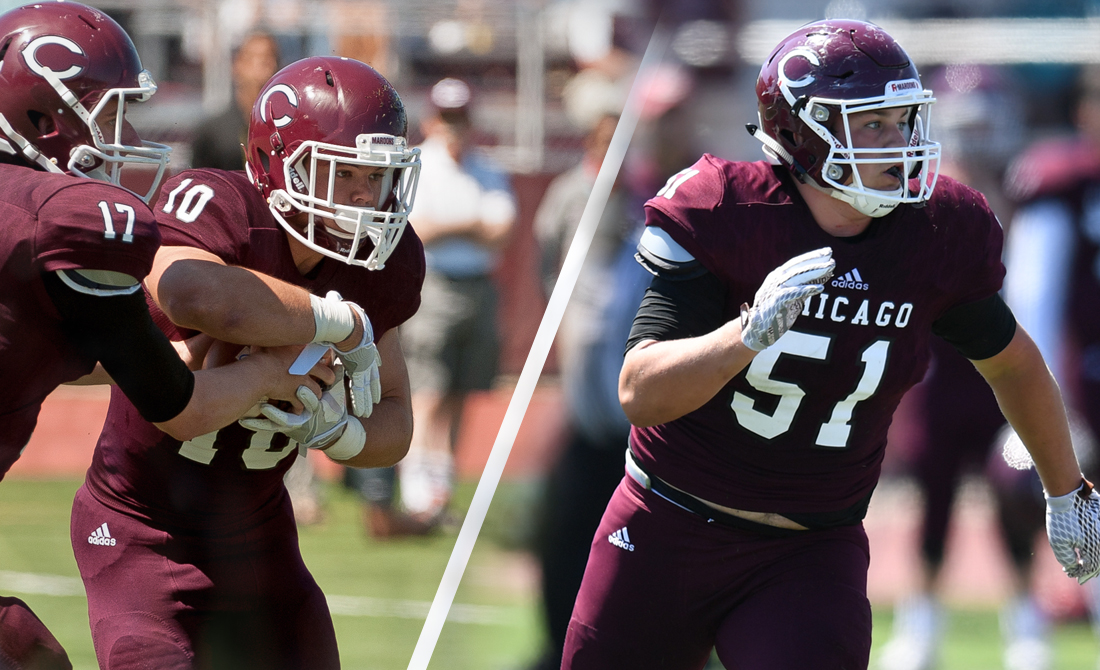 Maroon Football Rides Carroll Past Lawrence, 28-8