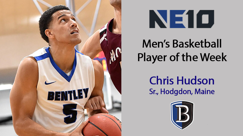 Hudson Named Northeast-10 Player of the Week