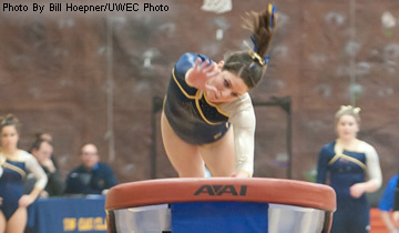 Women's Gymnastics Narrowly Beats Hamline