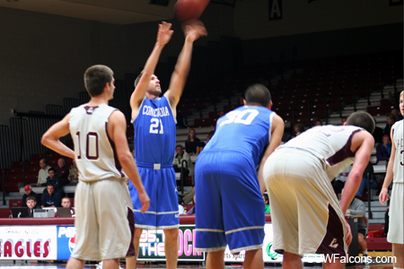 Men's Basketball falls after 21-point first half lead